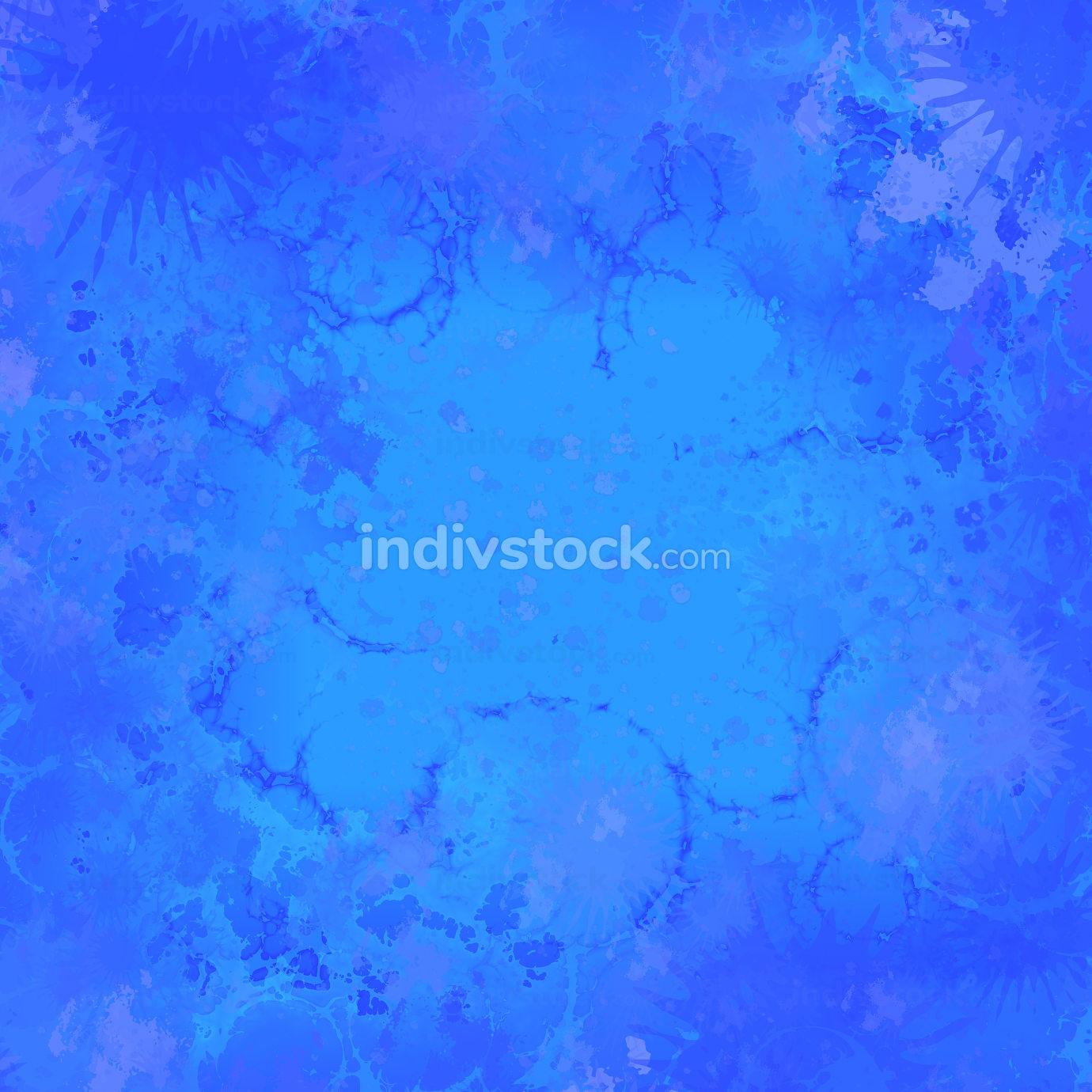 blue grunge splatter background
