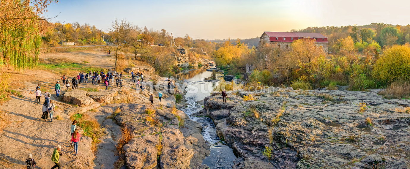 Buky Canyon and Hirskyi Tikych river in Ukraine