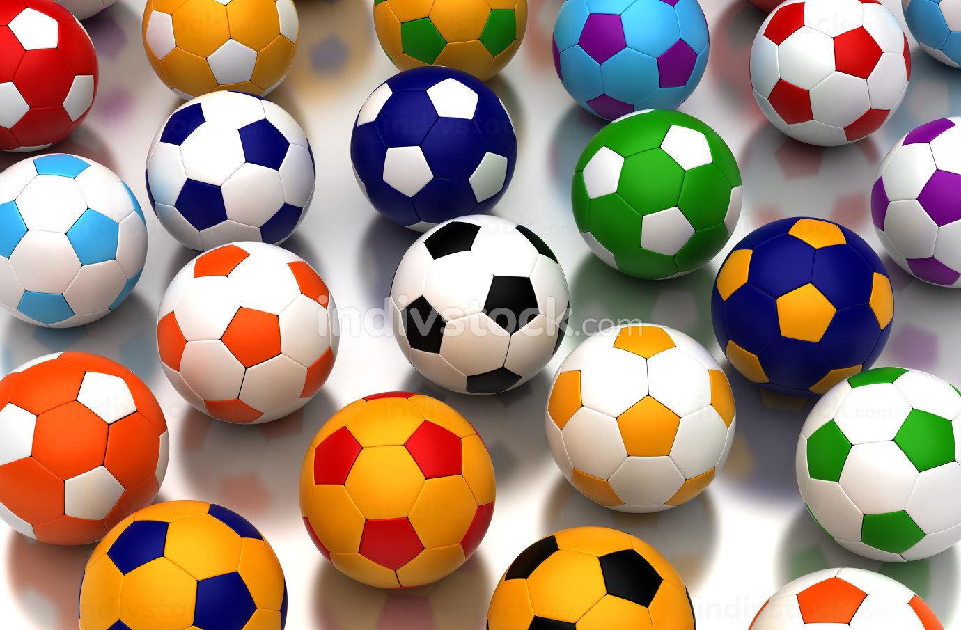Colorful Soccer Balls