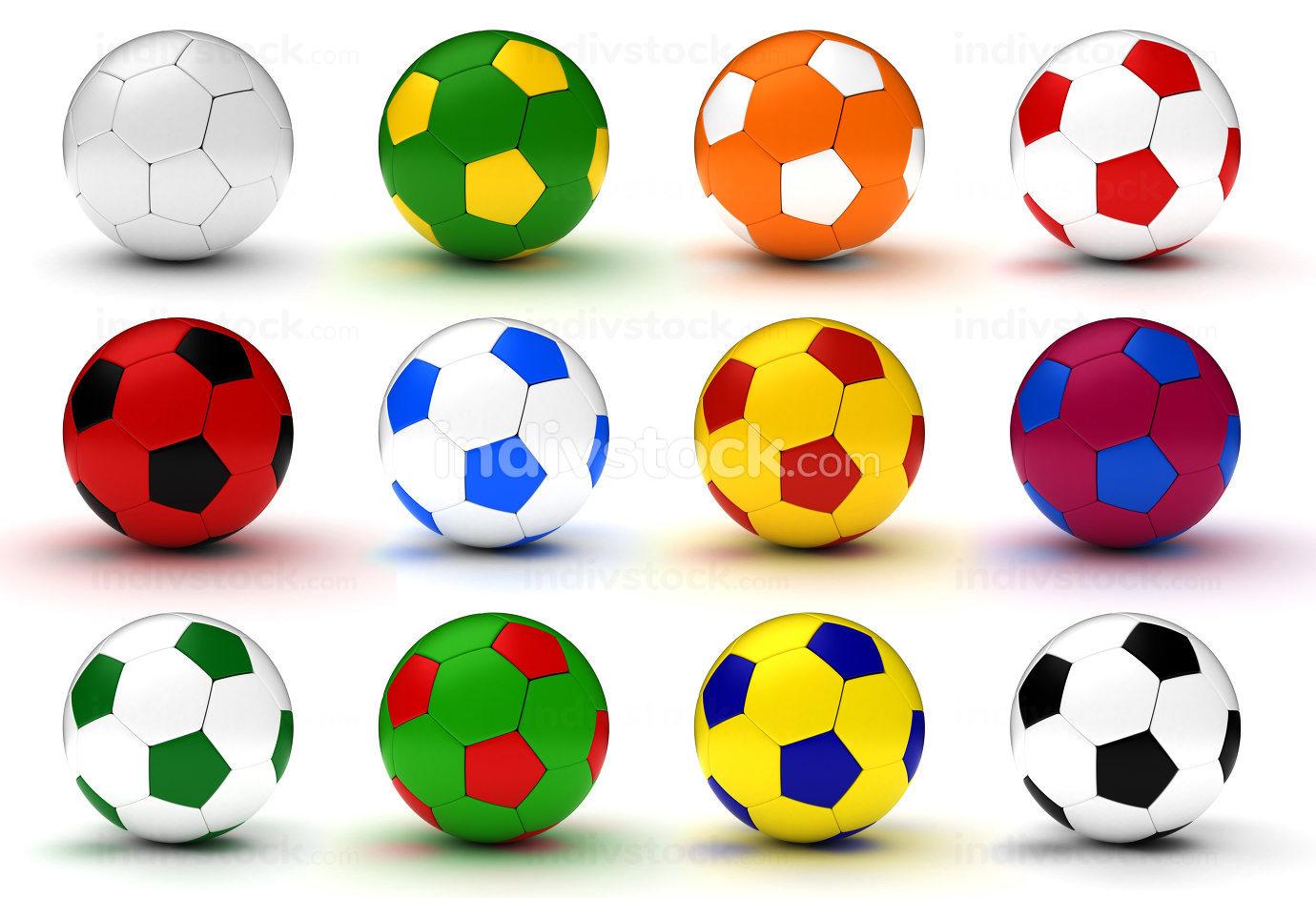 Colorfull Soccer Balls