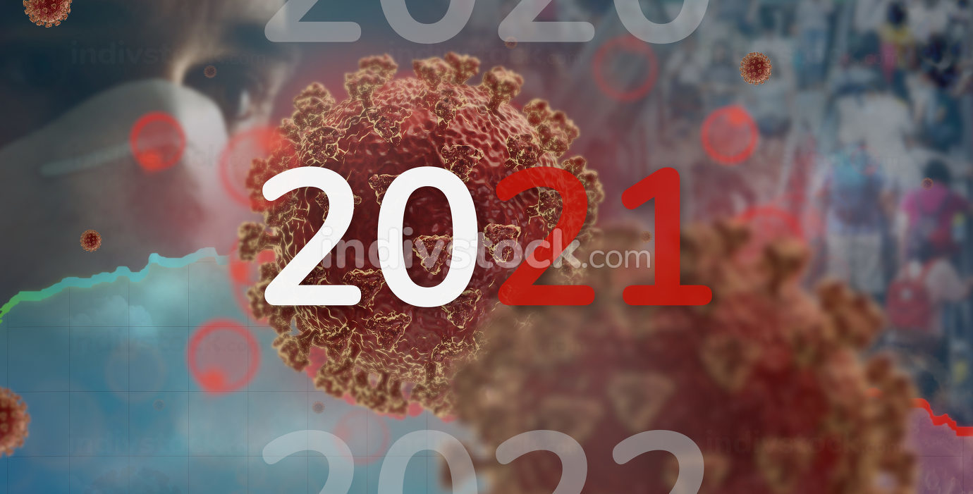 corona virus year 2021 people background 3d-illustration