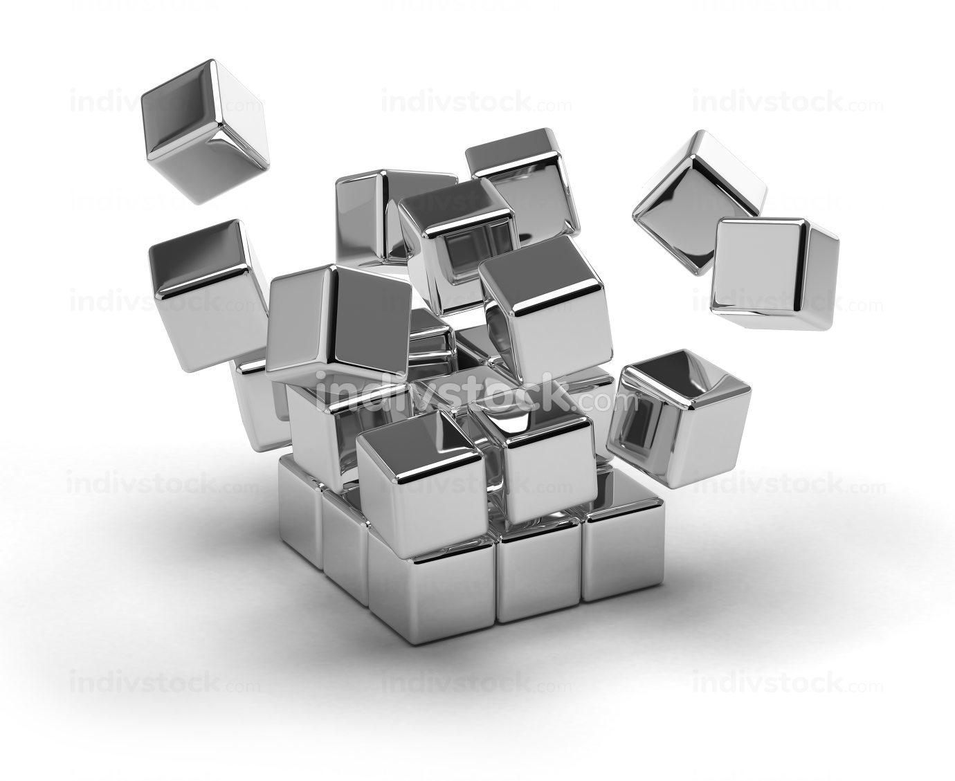 Cubes Exploding