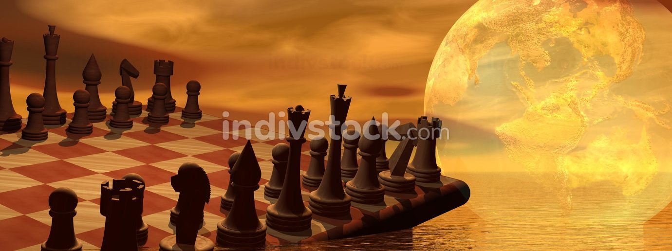 Global business strategy chess