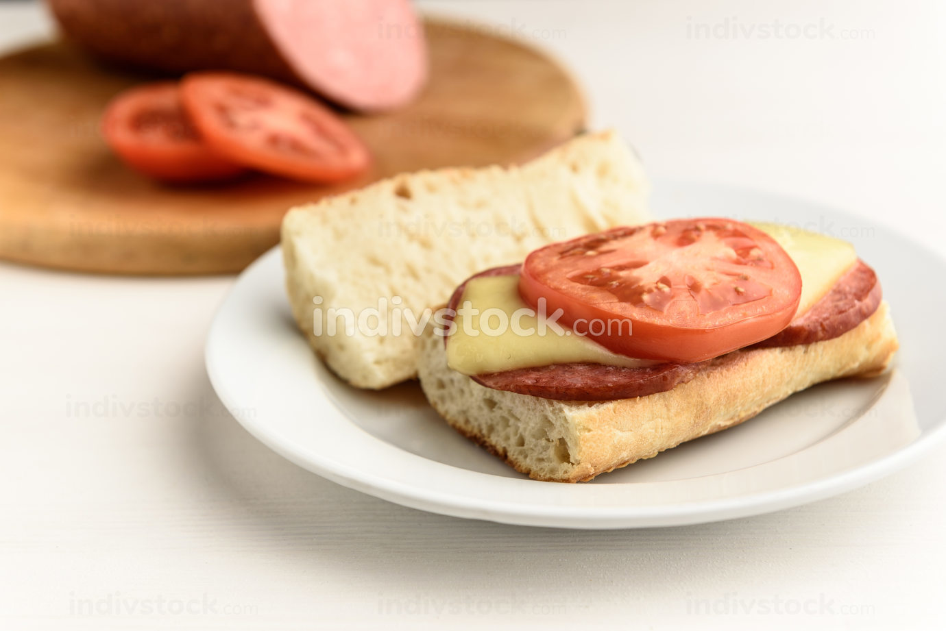hot sandwiches with tomatoes