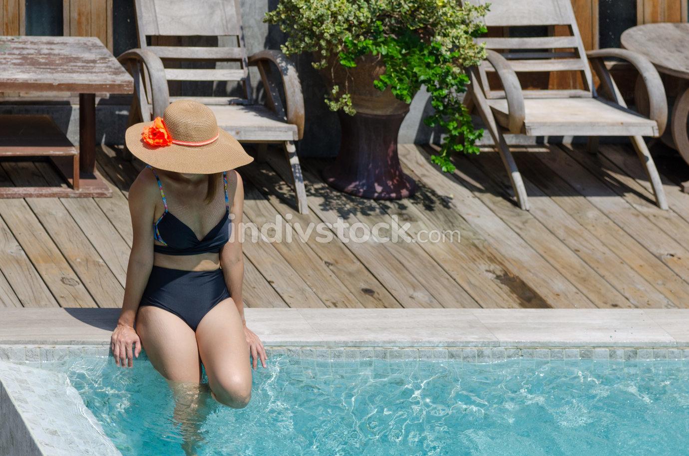 portrait woman bikini