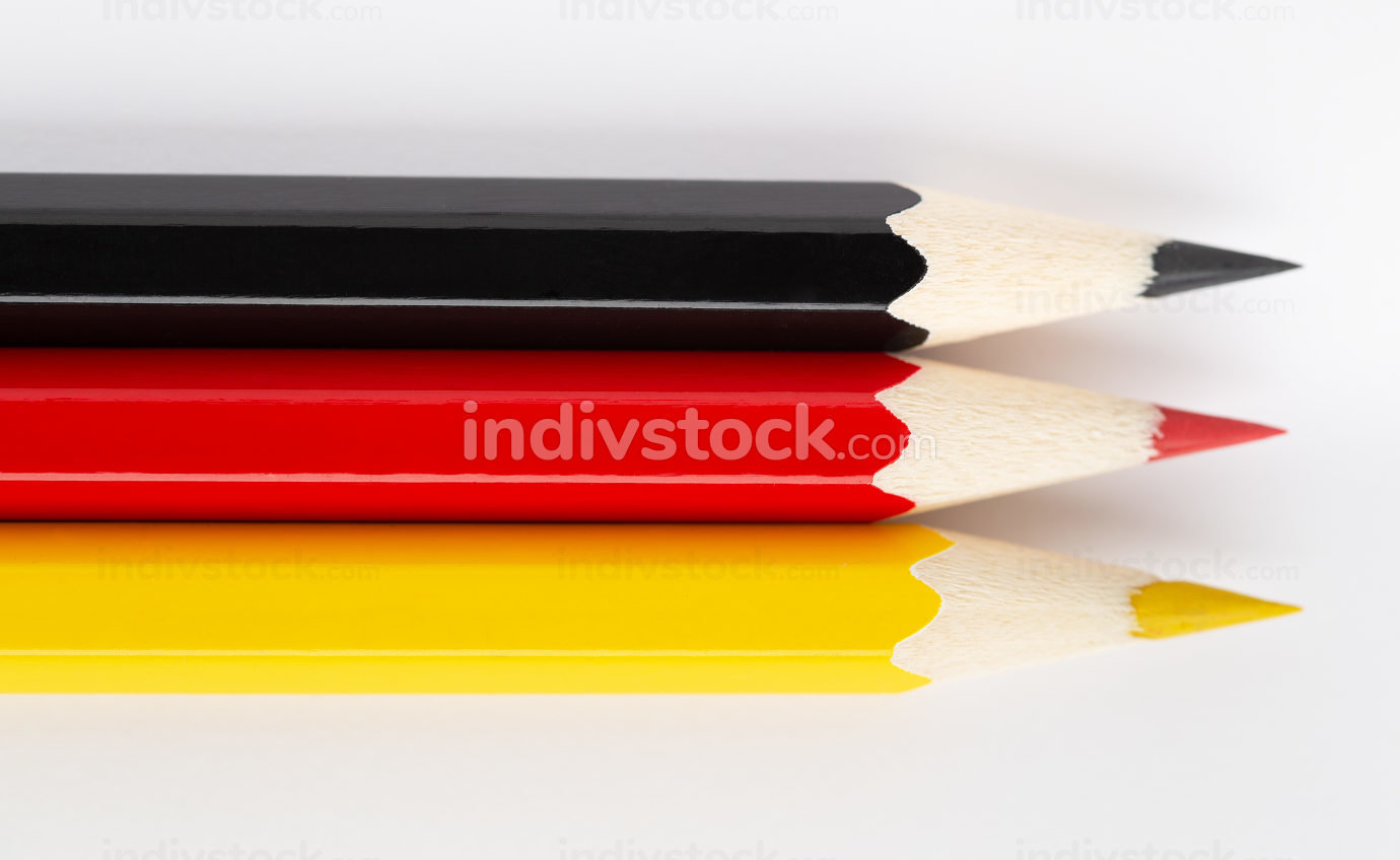 State flags made of colorful wooden pencils Germany