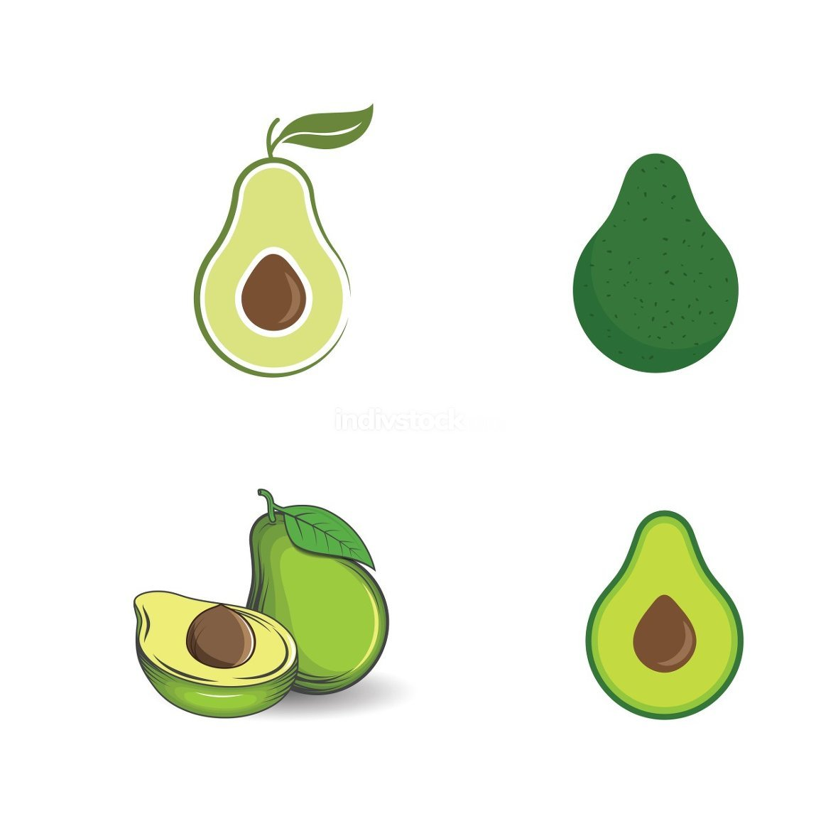 Avocado vector icon illustration design