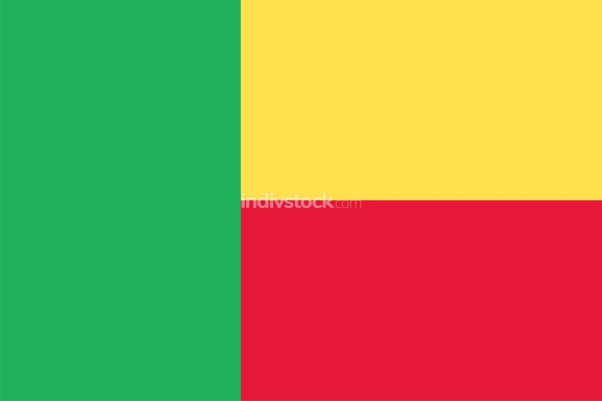 Benin officially flag