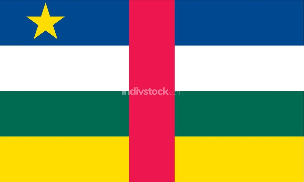 Central African Republic officially flag