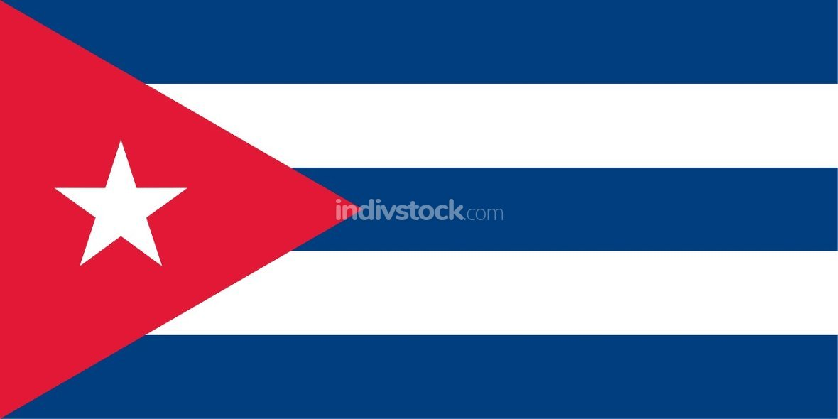 Cuba officially flag