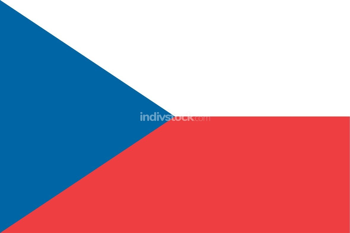 Czech Republic officially flag