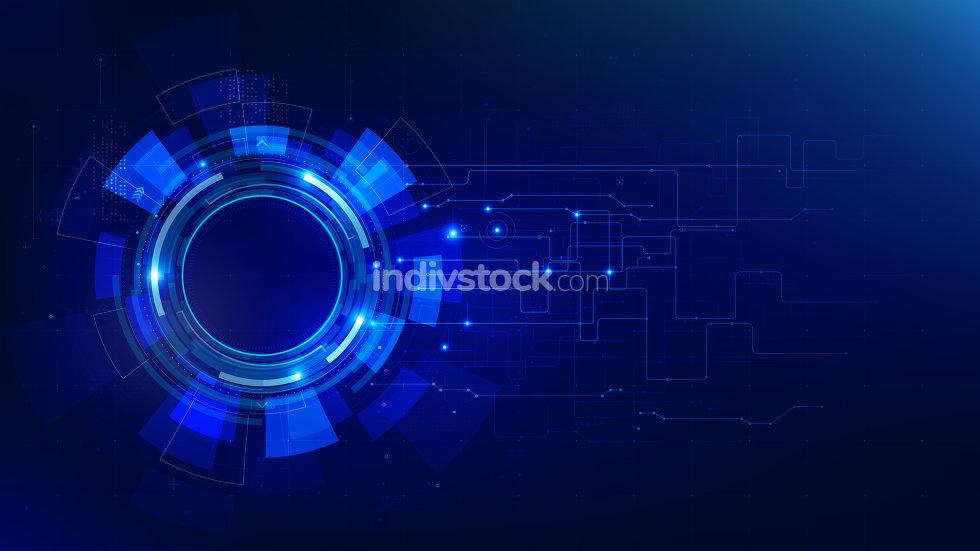 Futuristic technology dark blue abstract background 001