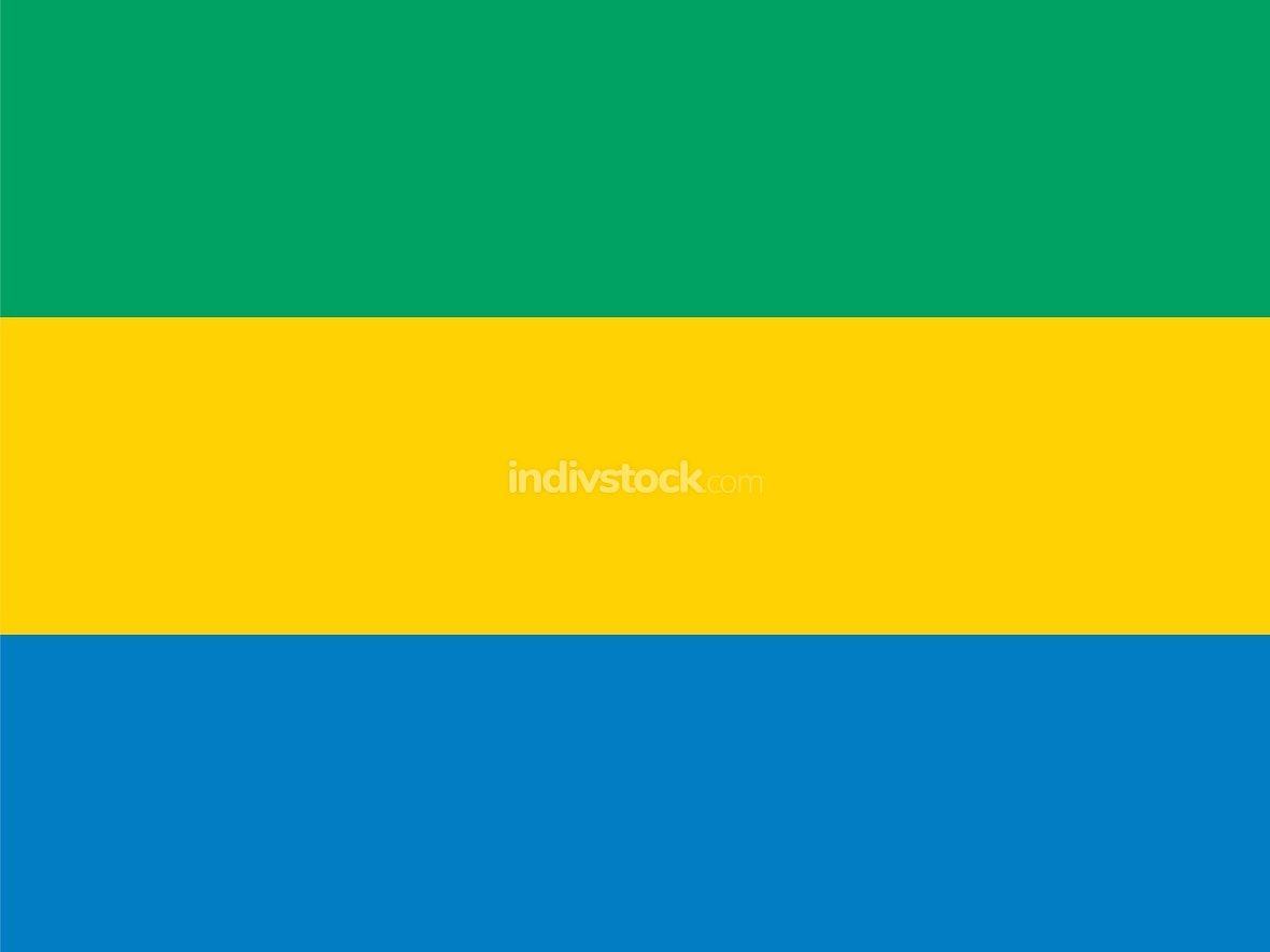 Gabon officially flag
