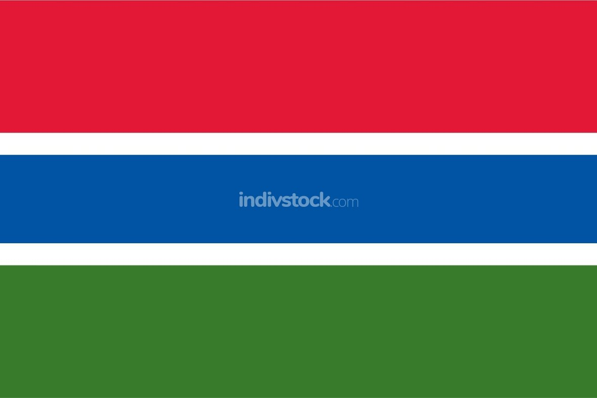 Gambia officially flag