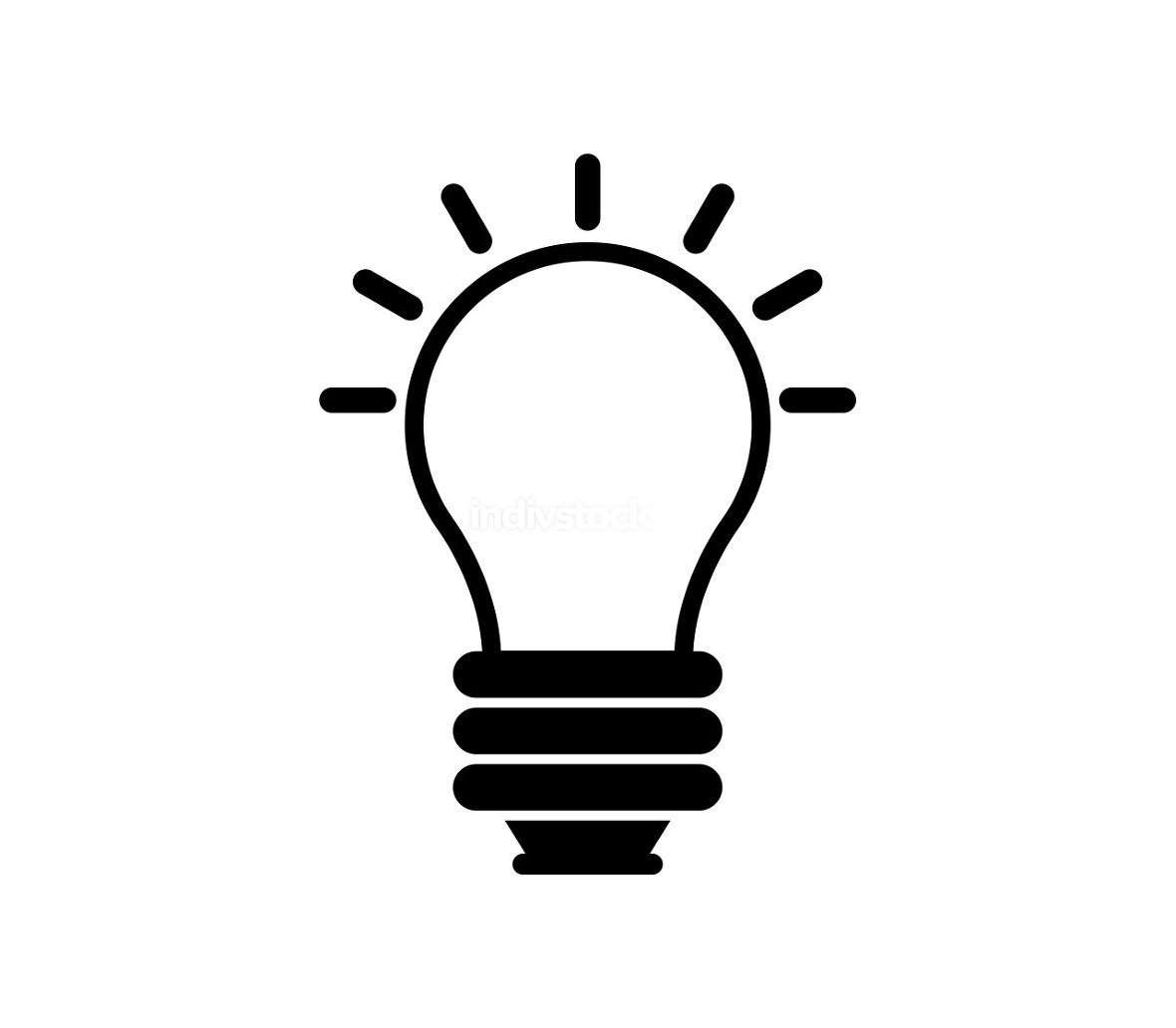 light bulb icon illustrated in vector on white background