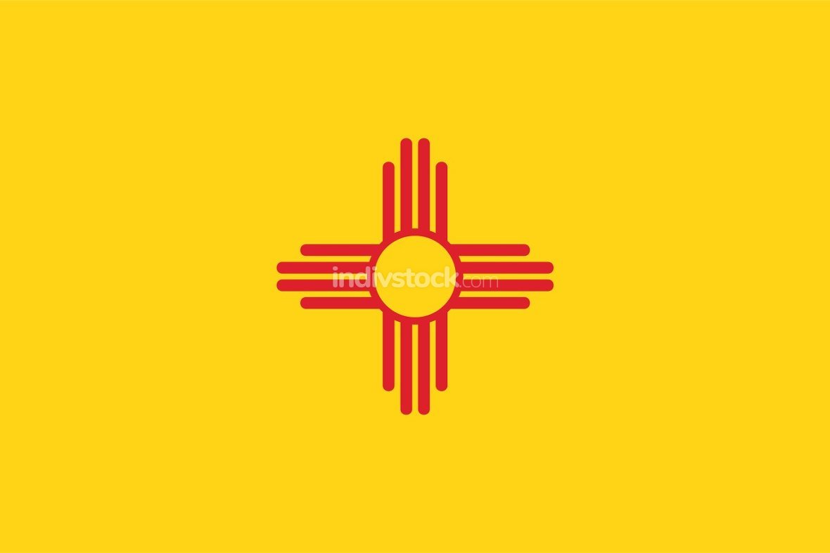 New Mexico officially flag