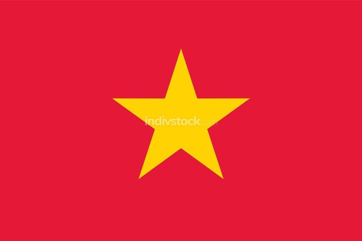 Vietnam officially flag