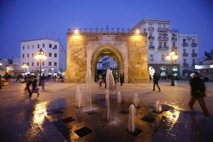The Place de la Kasbah in the Old City of Tunis in north of Tunisia in North Africa,  Tunisia, Sidi Bou Sair, March, 2009