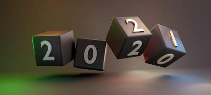 2021 golden dark cubes 3d-illustration