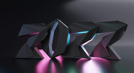 2022 bold letters trend modern design 3d-illustration