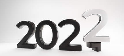 2022 new year white dark design 3d-illustration