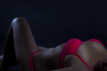 A sensual shot of a woman in underwear