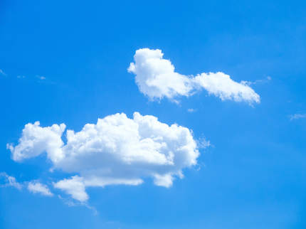 blue sky with cloud forms