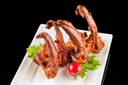 Braised duck clavicle, Chinese cuisine.