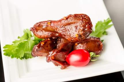Braised duck gizzard, Chinese cuisine.