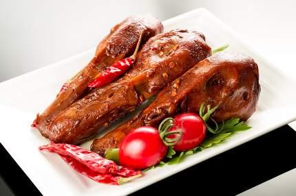 Braised duck heads, Chinese cuisine.