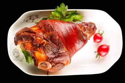 Braised pig elbow, Chinese cuisine.