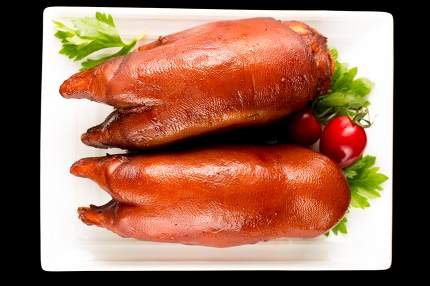 Braised pig's feet, Chinese cuisine.