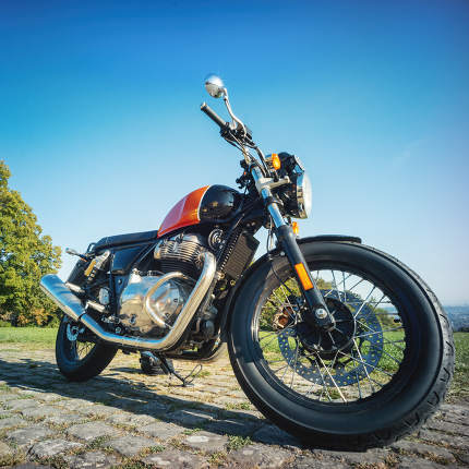 classic motorcycle outdoors