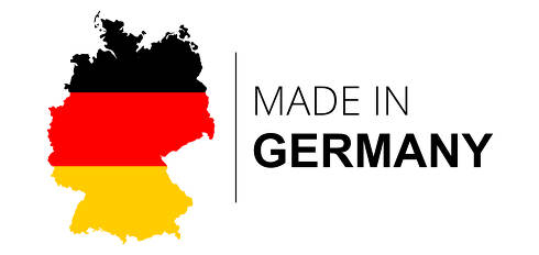 concept of made in Germany symbol. map of Germany 3d-illustration