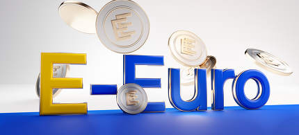 E-Euro concept of european digital currency