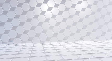 hexagonal grid creative background 3d-illustration