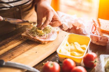 Girl Making Breakfast In Kitchen nice shot!