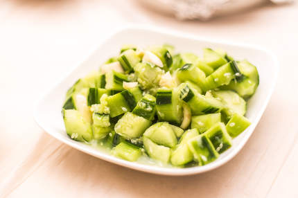 Garlic parsley cucumber and pepper isolated