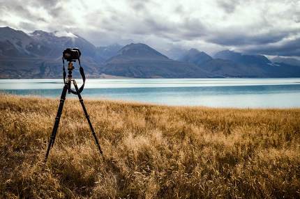 silhouette of camera on tripod nice shot