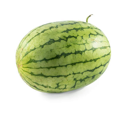 watermelon on white background good photo