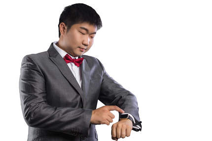businessman using smart watch. good photo