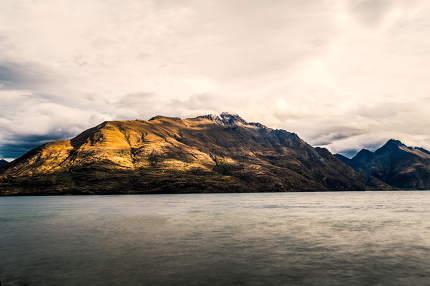 Dawn at Lake Wakatipu South Island New Zealand landscape
