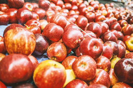 Red apples background nice photo
