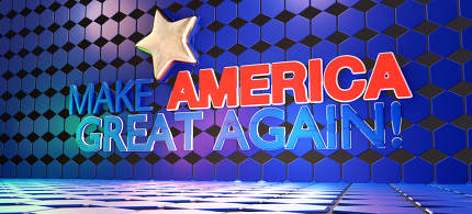 make america great again creative background 3d-illustration