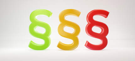 paragraph red yellow orange and red 3d-illustration