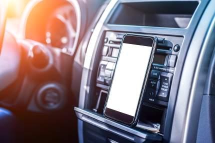 Smartphone in a car