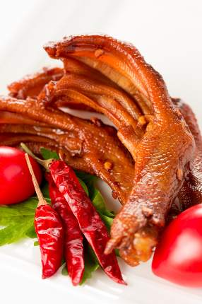 Stewed duck trotter , Chinese cuisine.