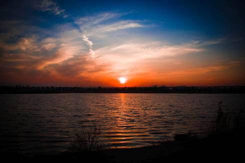 Sunset on the lake.