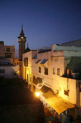 the Youssef Dey Mosque in the Medina of the Old City of Tunis in north of Tunisia in North Africa,  Tunisia, Sidi Bou Sair, March, 2009