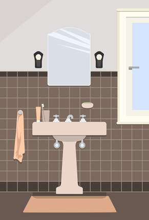 Typical Vintage Bathroom Backgrounds Textures Indivstock